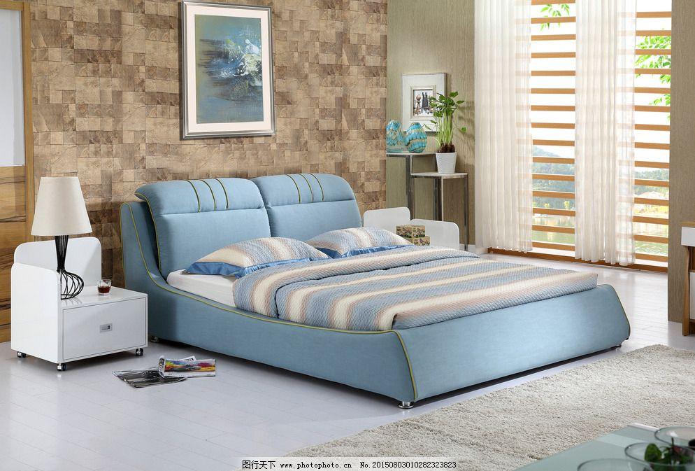 奢华软体床 欧式软体床 室内设计 环境设计 设计 家具背景 广告设计