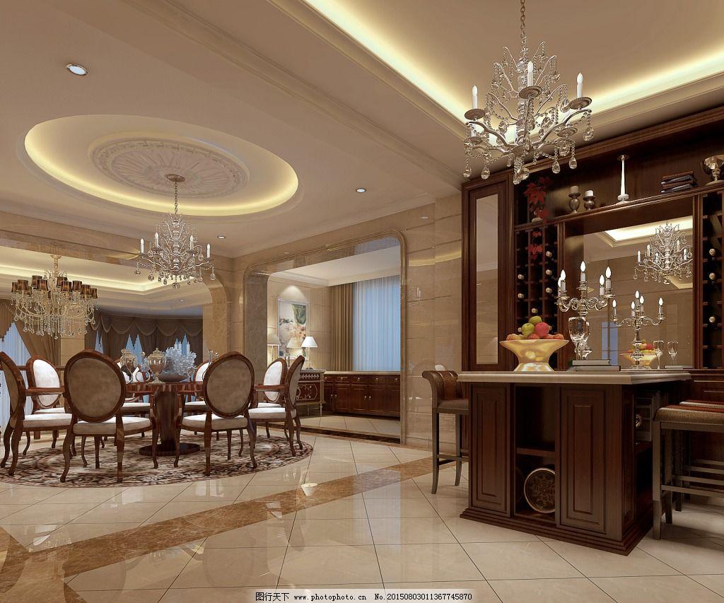 客餐厅设计效果图_室内设计_装饰素材_图行天下图库