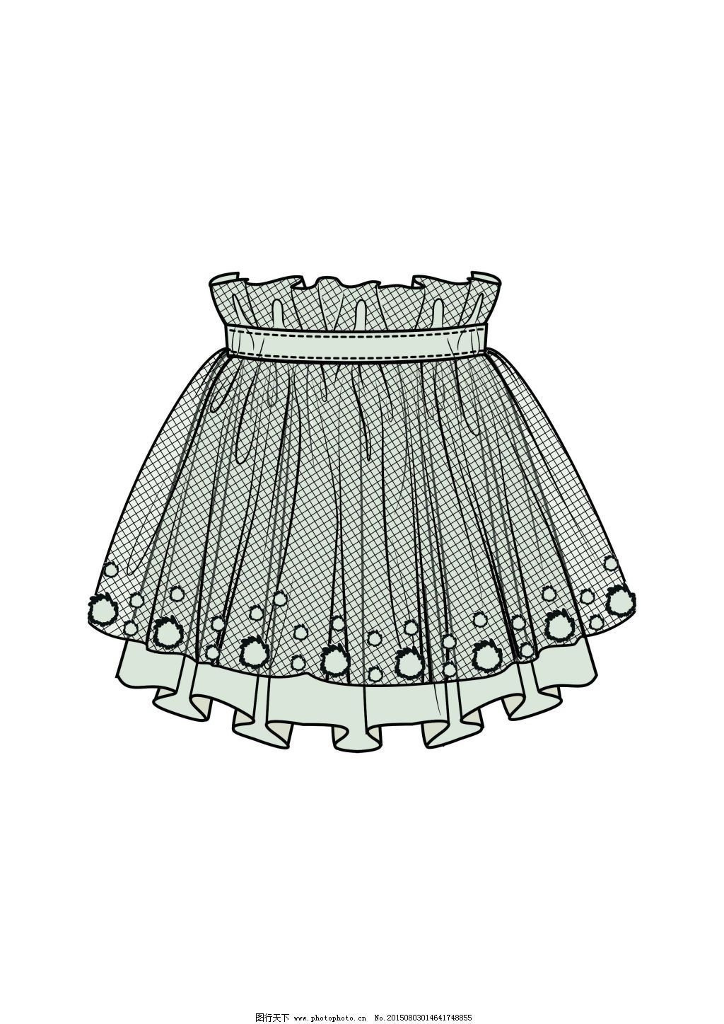 裙子免费下载 服装 款式图      裙子款式      服装 款式图 原创设计