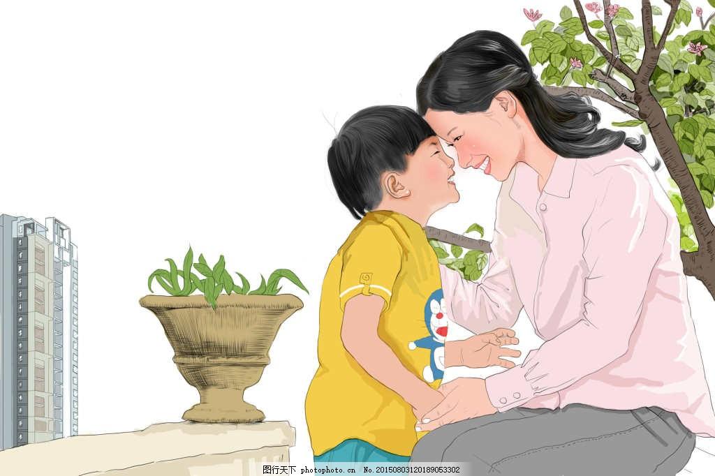 手绘感恩母亲节