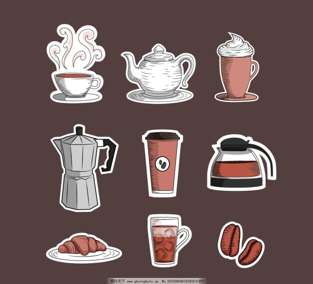 纸质咖啡 图标图片_动漫人物_动漫卡通_图行天下图库