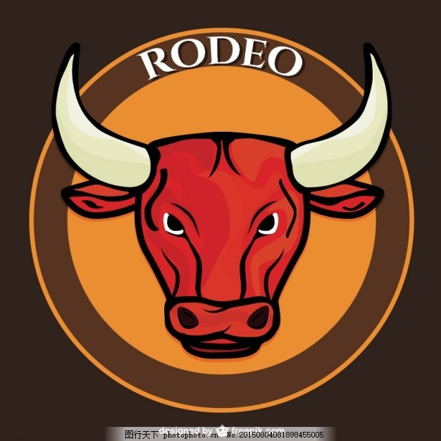 牛仔牛矢量 动物 卡通 喇叭 竞技 角 公牛 公牛的角 牛的卡通