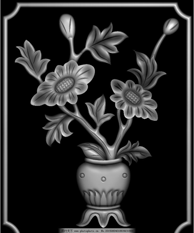 中式雕刻灰度图图片图片