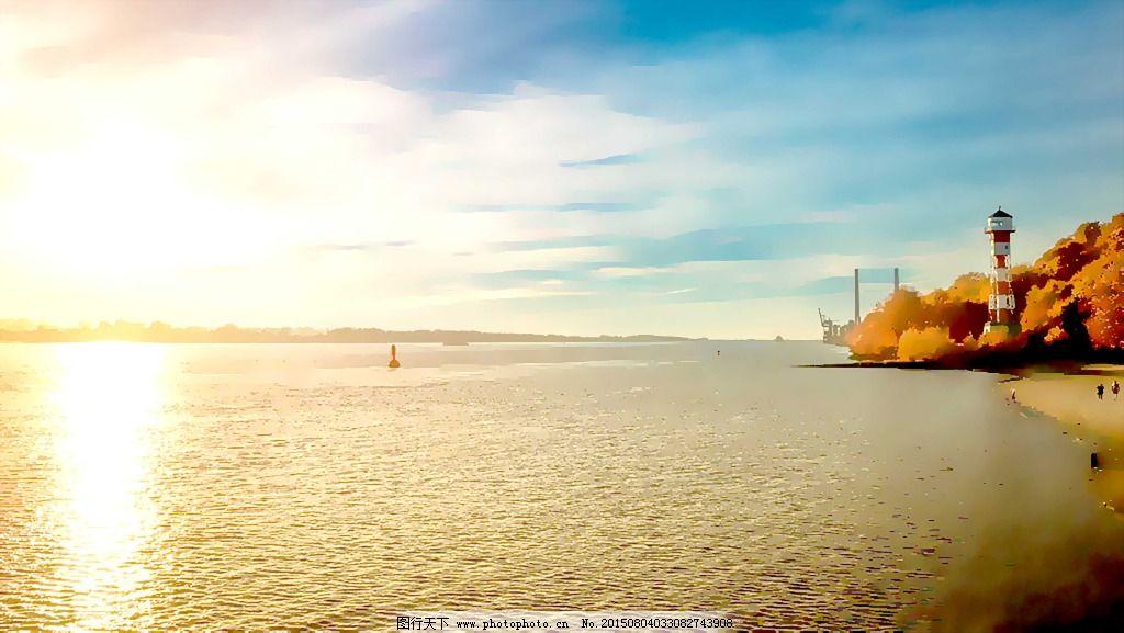 海边风景水彩