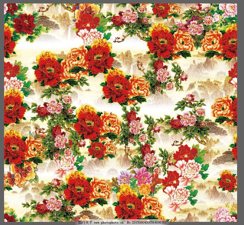 牡丹花背景图免费下载