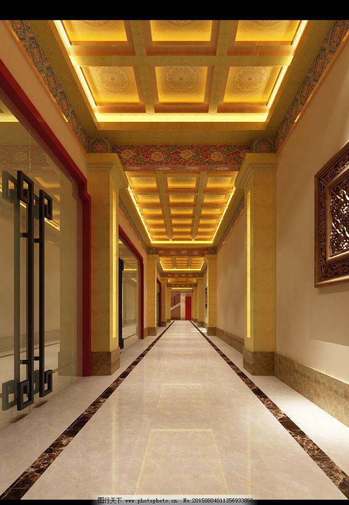 展厅走廊天花装修图片