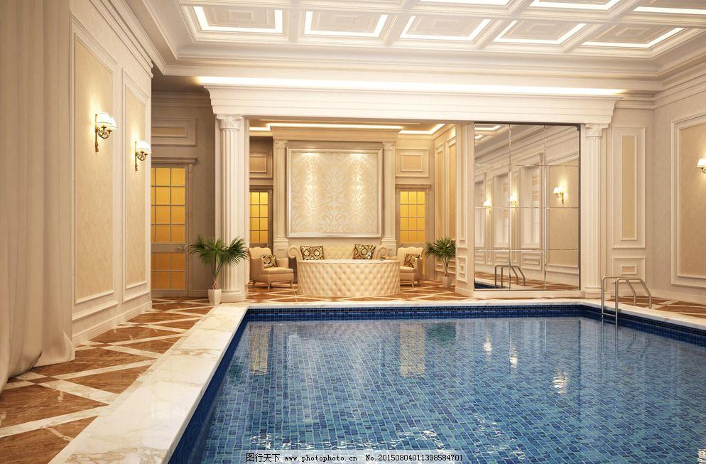 300dpi jpg 别墅 环境设计 酒店 设计 室内设计 水池 泳池 室内游泳池
