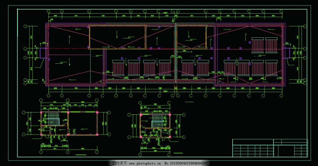 楼顶平面图_楼顶平面图_建筑图纸_CAD素材_图行天下图库