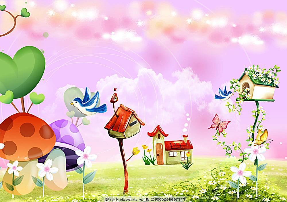 梦中的春天 唯美卡通风景
