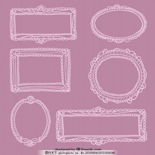 手绘装饰相框