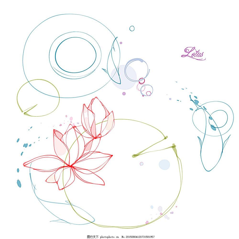 莲花图案素材