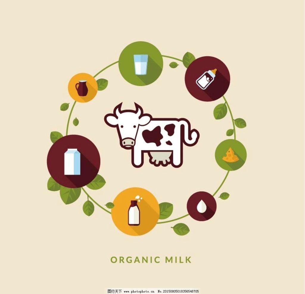 扁平牛奶logo图片