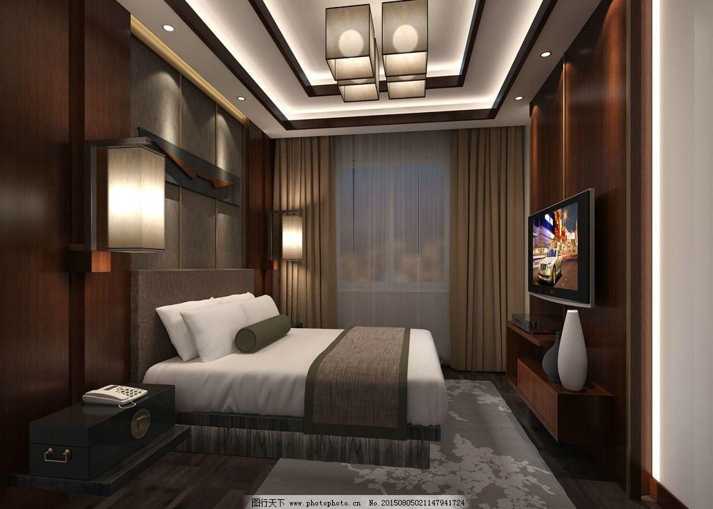 家装效果图 中式卧室 中式效果图 设计 3d设计 室内模型