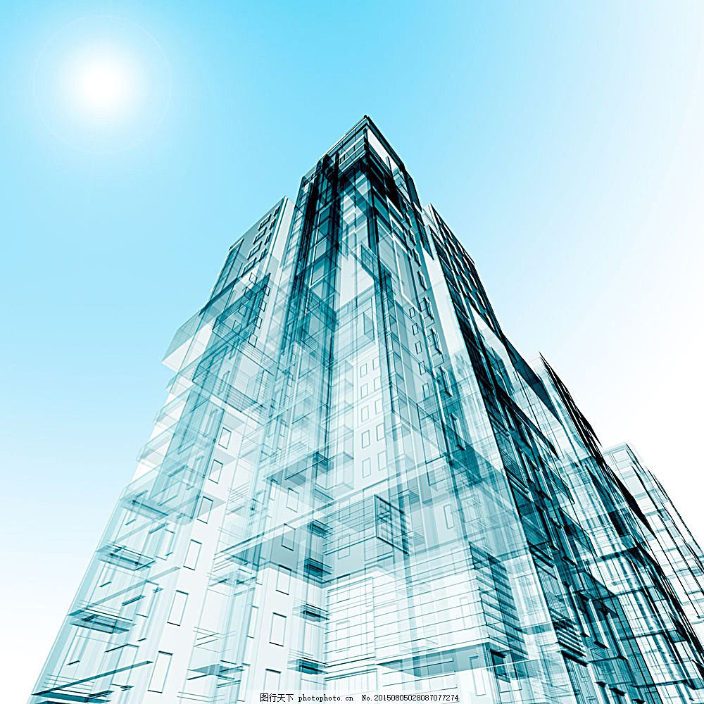建筑手绘效果图 办公楼 高楼大厦 写字楼 商务楼 公寓楼 大酒店 建筑