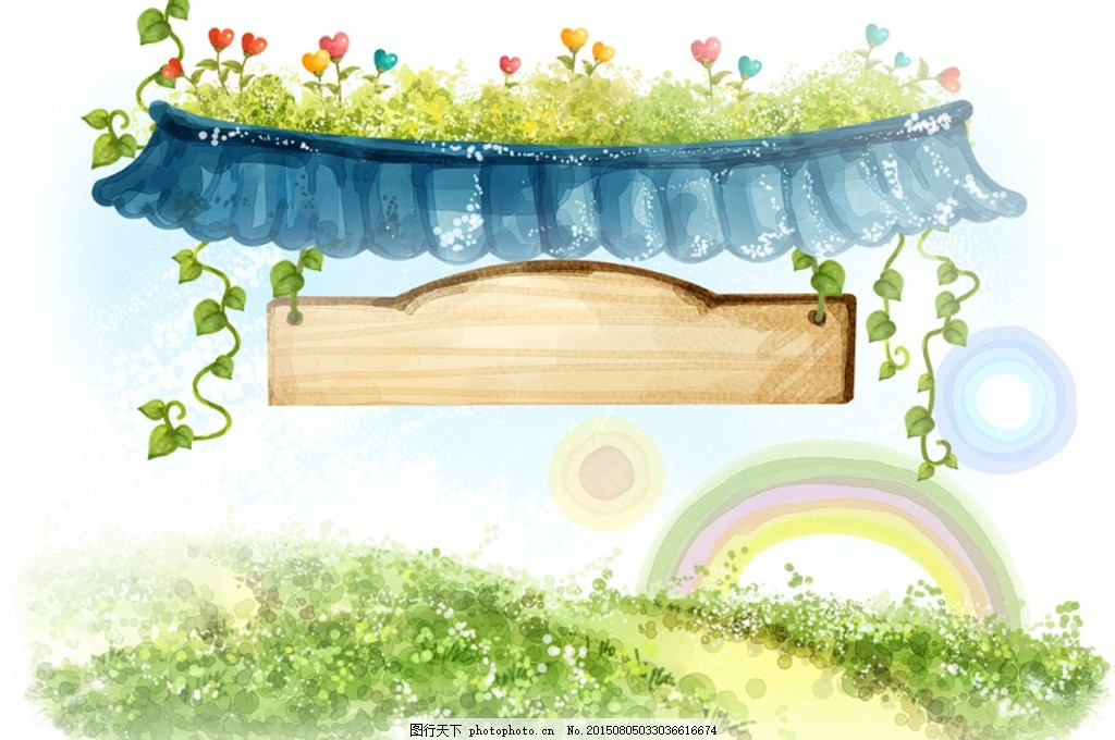 水粉风景插画 季节色彩 手绘风景 梦幻世界 童话世界 装饰画 艺术画