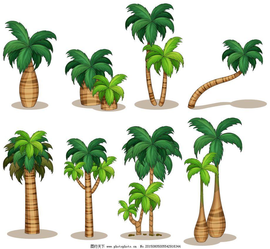 精美椰子树矢量素材