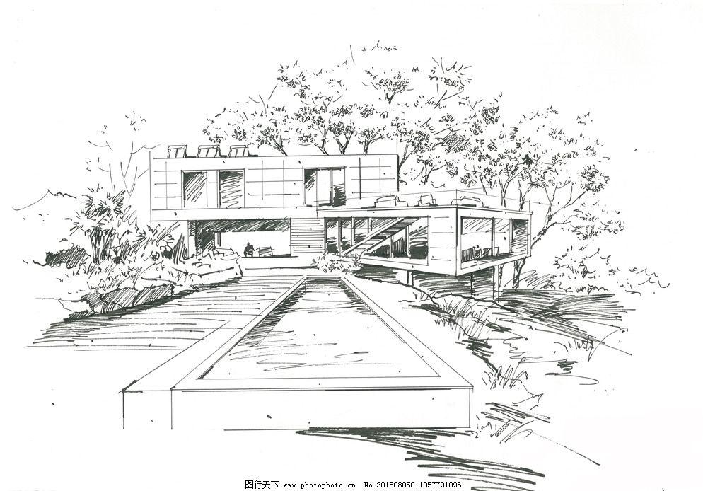 建筑手绘表现 建筑钢笔画 钢笔画手绘 川大锦城 家居装饰素材