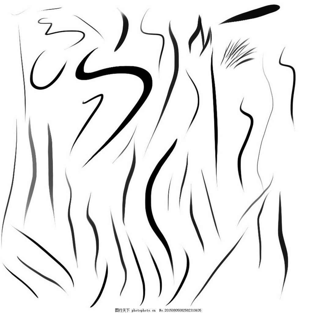 手绘线条装饰ps笔刷