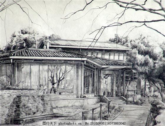 建筑素描 房屋 设计素材 风景专辑 素描速写 书画美术 灰色
