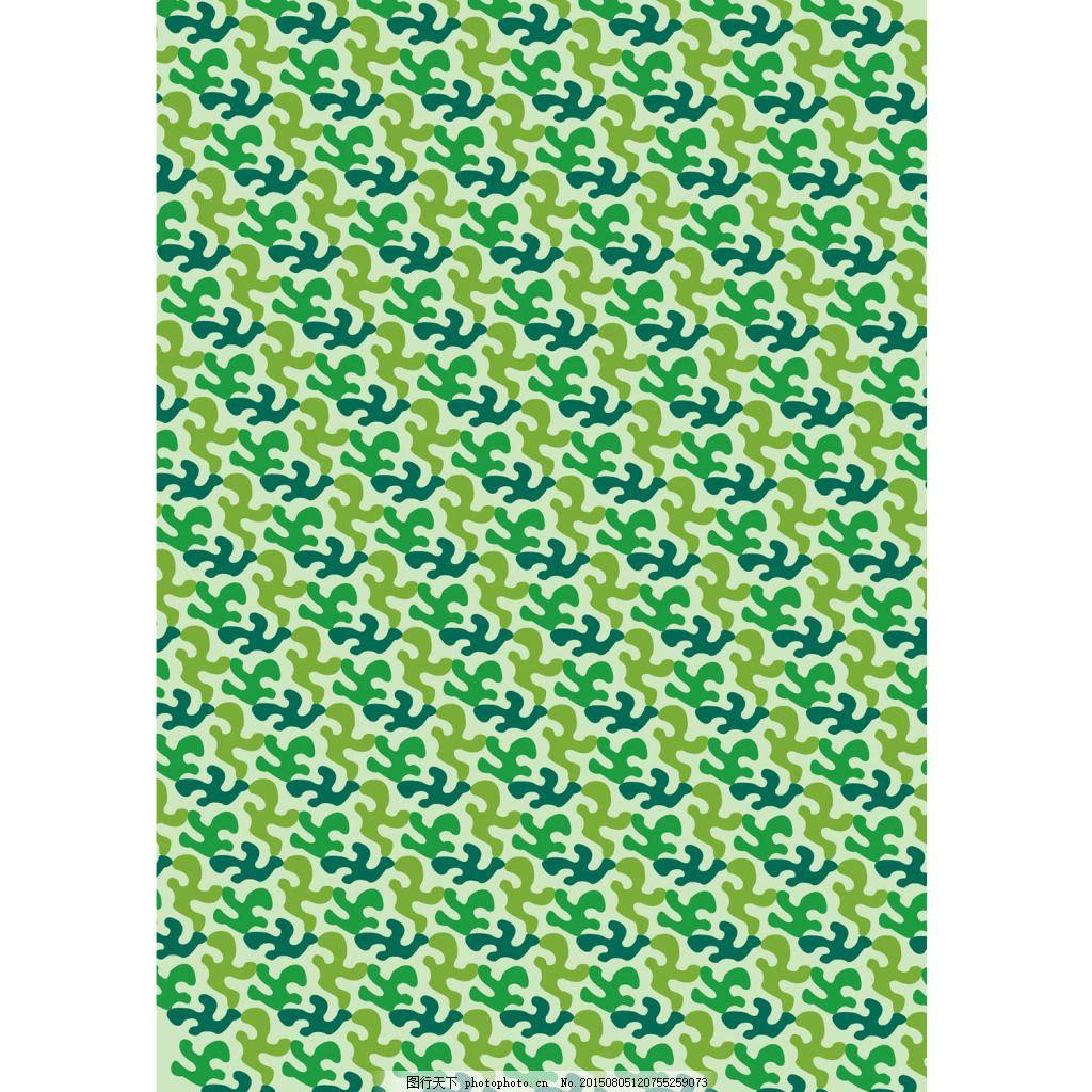 绿色调花边花纹矢量花型素材,黄绿色 墨绿色 小图案