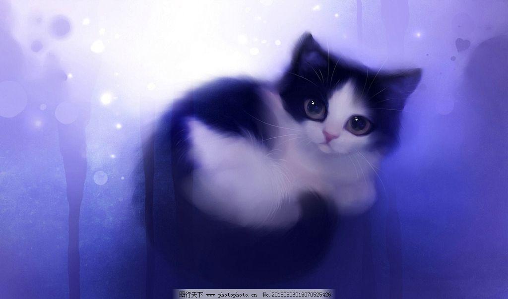 小花猫 可爱猫咪 可爱小猫 喵星人 猫咪 小猫 猫 手绘小猫 梦幻 水粉