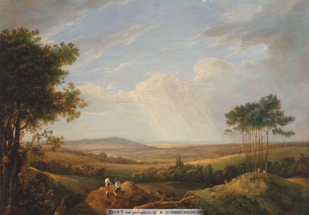 树林 丛林 布面油画 油画风景 古典油画 装饰画 壁画 油画 风景画