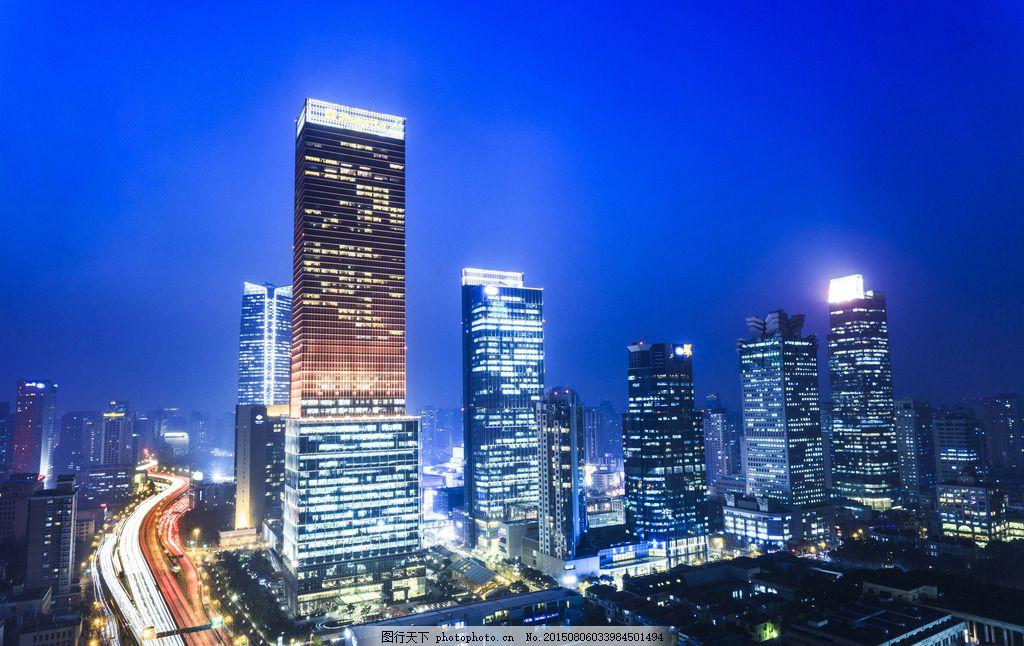 上海风光 旅游 城市 景色 高楼 夜晚 摄影 国内旅游