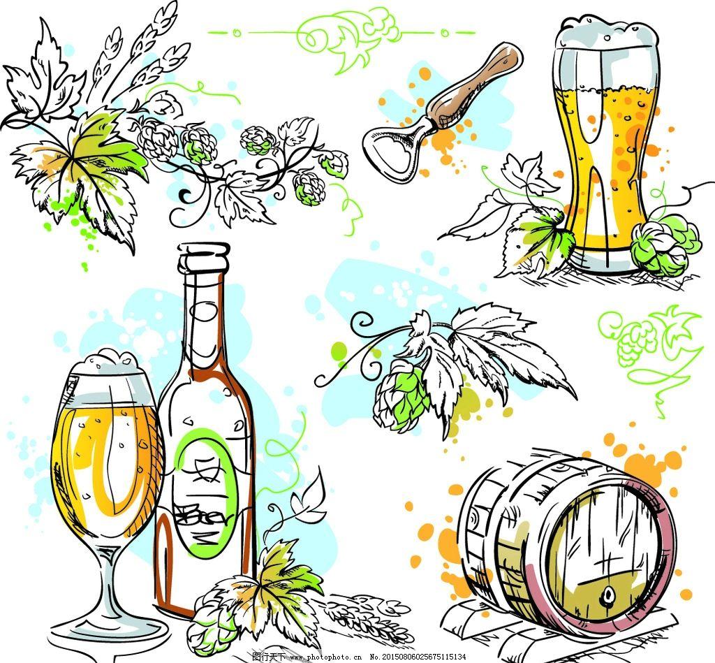 饮料手绘卡通图片
