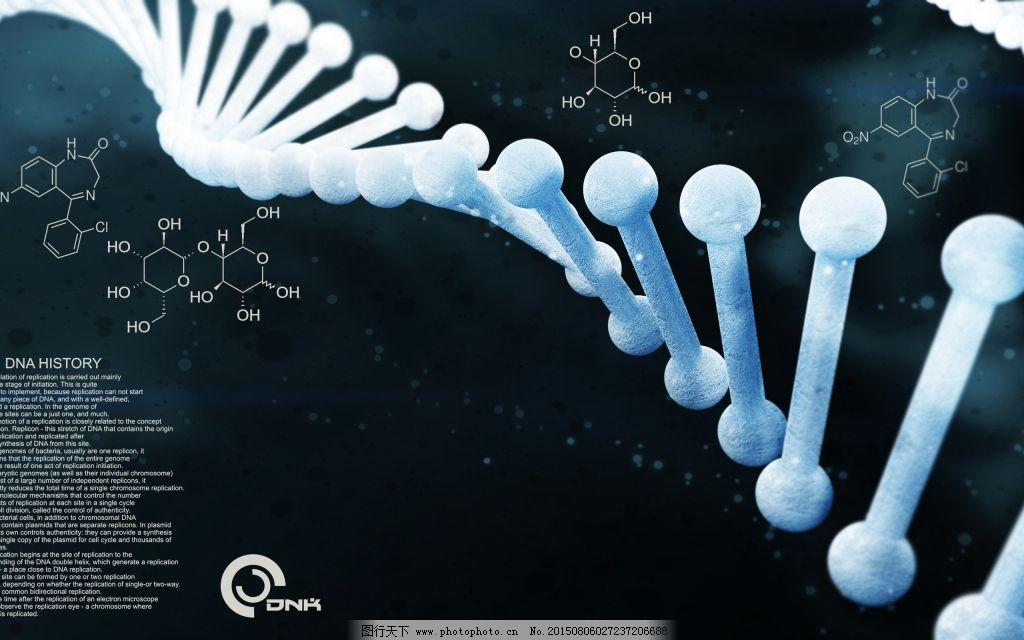 生物科技 dna分子 螺旋结构图