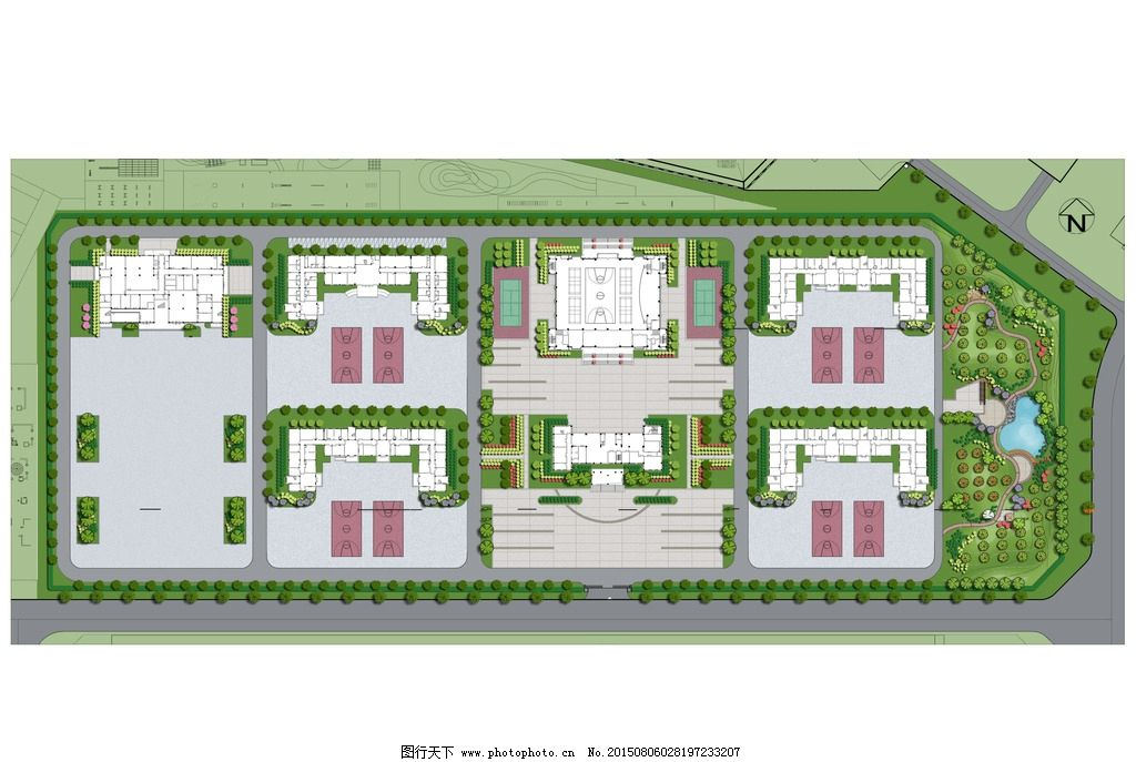 景观设计 总平面图 彩平图 景观园林 环境设计 建筑设计  设计 环境