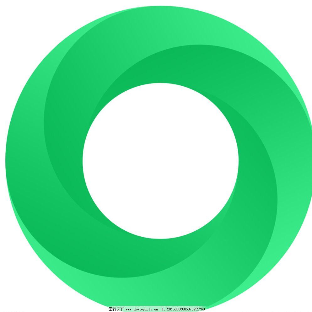 大气漂亮精致的渐变圆圈logo图片