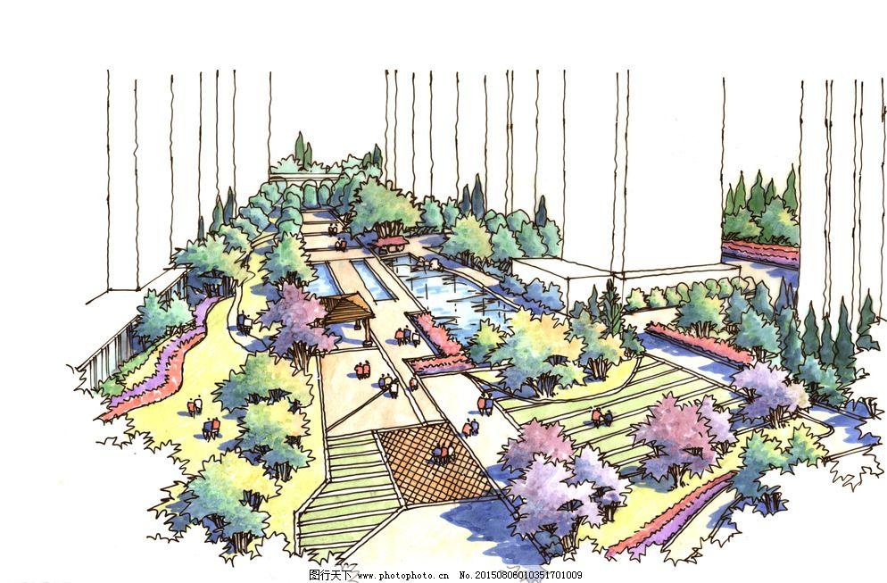 成都手绘 手绘 设计 环境设计 景观设计 300dpi jpg 装饰素材 园林