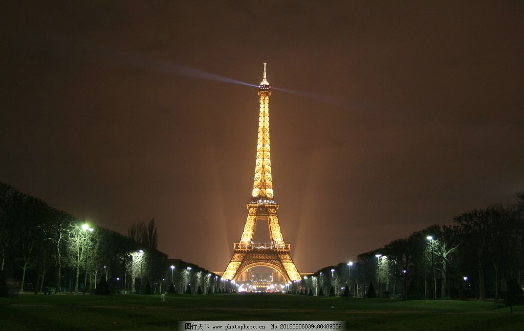 巴黎 埃菲尔铁塔 夜晚