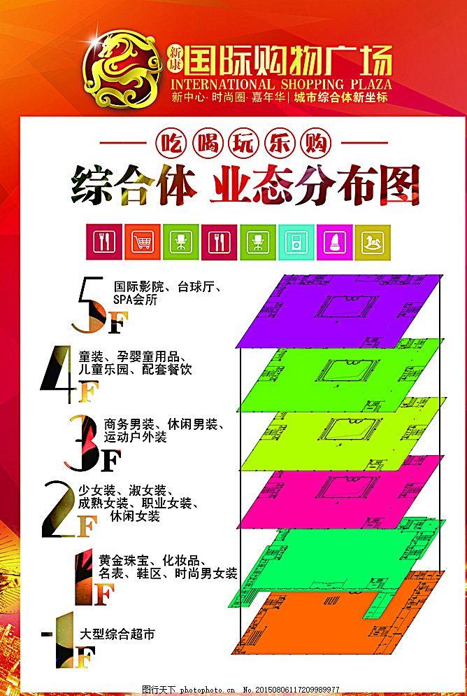 楼层业态分布图 地产广告 房地产 楼层图 综合图 业态图 广告设计