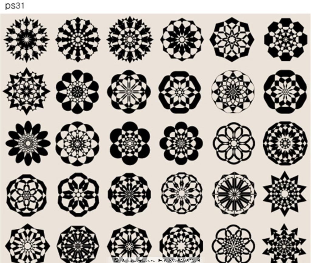 背景 圆形图案 万花筒 古典相框 中式边框 复古 回纹 花纹图案 欧式