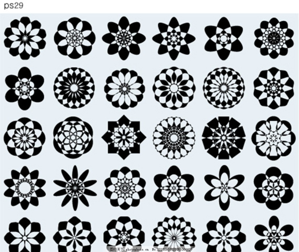 古典几何图形图案