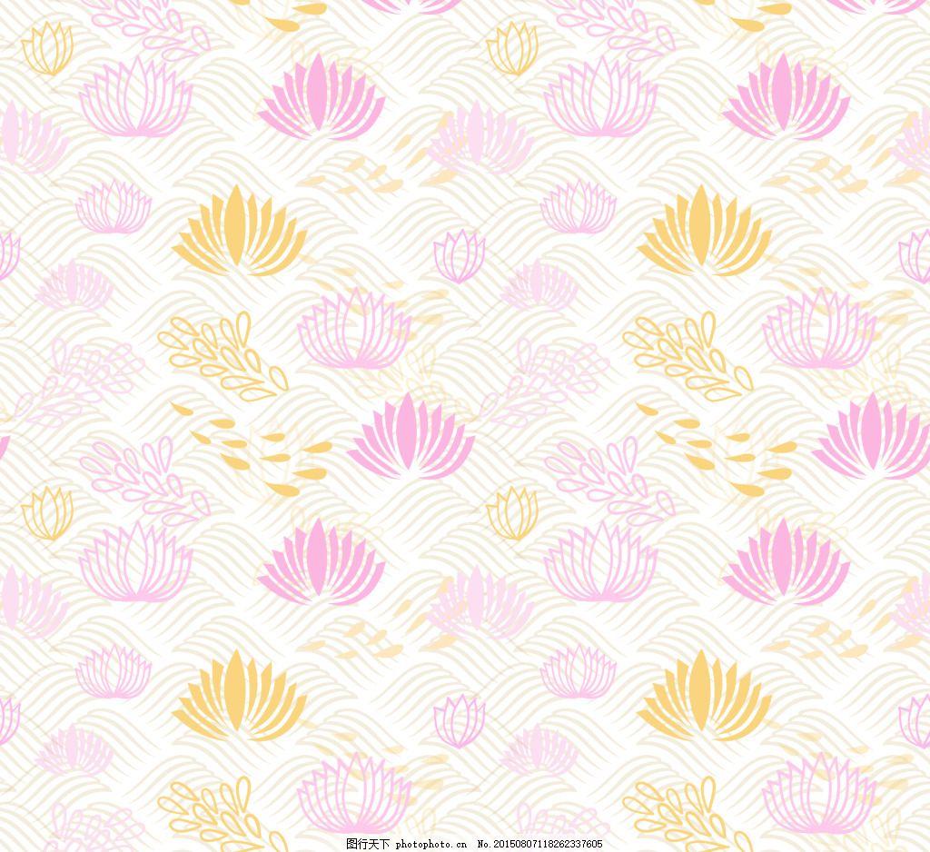 手绘花卉日本的背景 手绘花卉背景 花卉背景 手绘花卉 ai 白色 ai