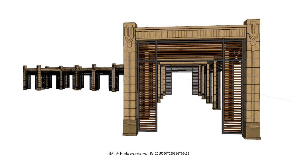 廊架素材 欧式廊架 木质 园林素材 园林景观 花架 欧式园林 欧式景观