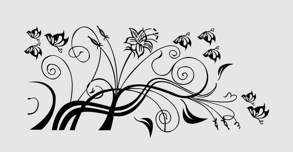花藤蔓素材 手绘