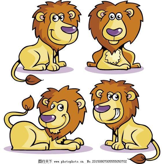 人形狮子卡通人物