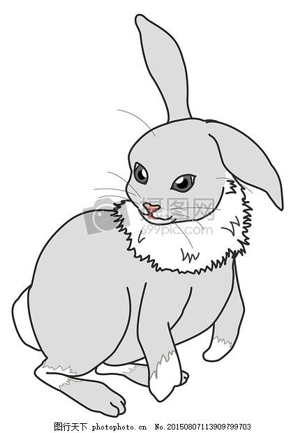 手绘兔子图片每当这时