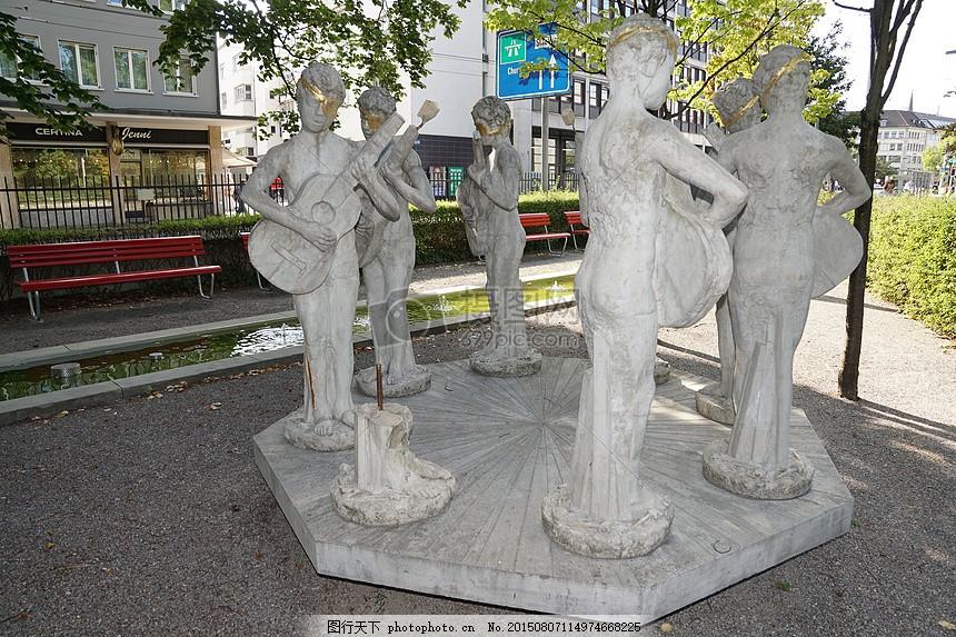 雕塑 图 雕像 苏黎世 敬老院 播放 音乐家 艺术 现代 红色