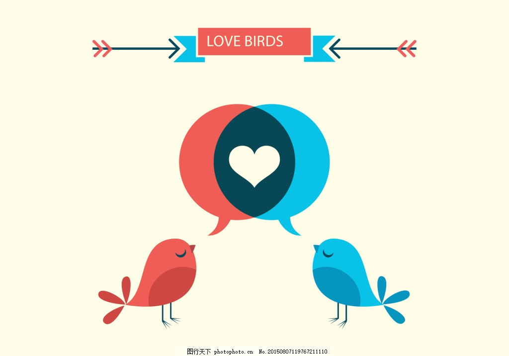 可爱爱心鸟