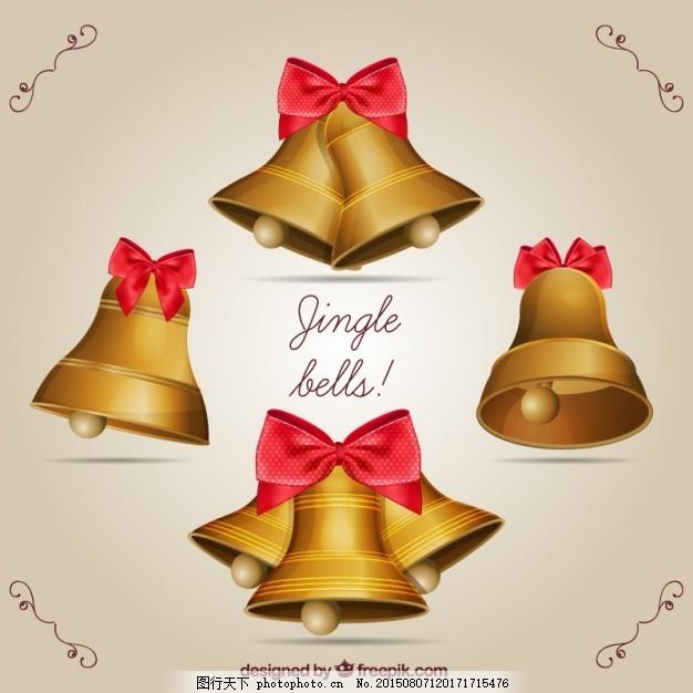 金色的铃儿响叮当 圣诞节 黄金 圣诞快乐 冬天快乐 庆祝 节日 节日