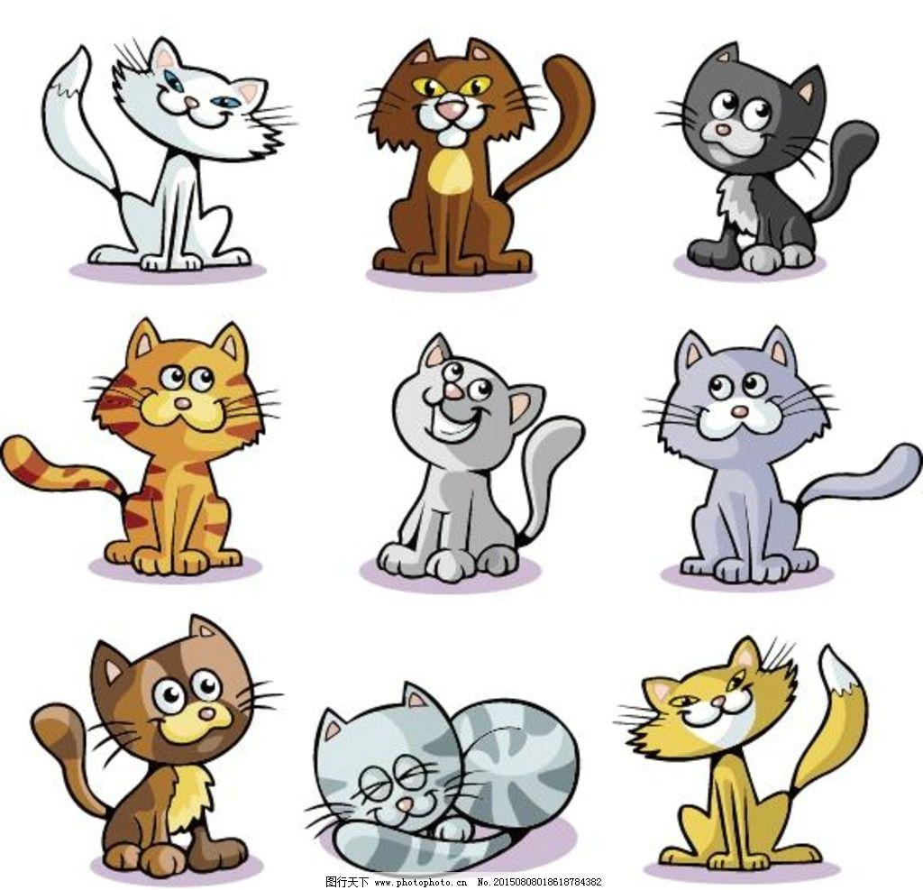 卡通猫形象图片图片