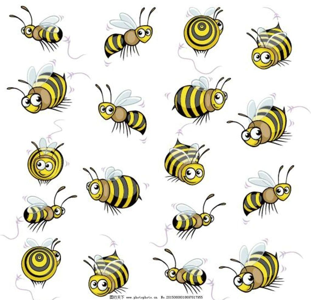 可爱卡通蜜蜂形象图片
