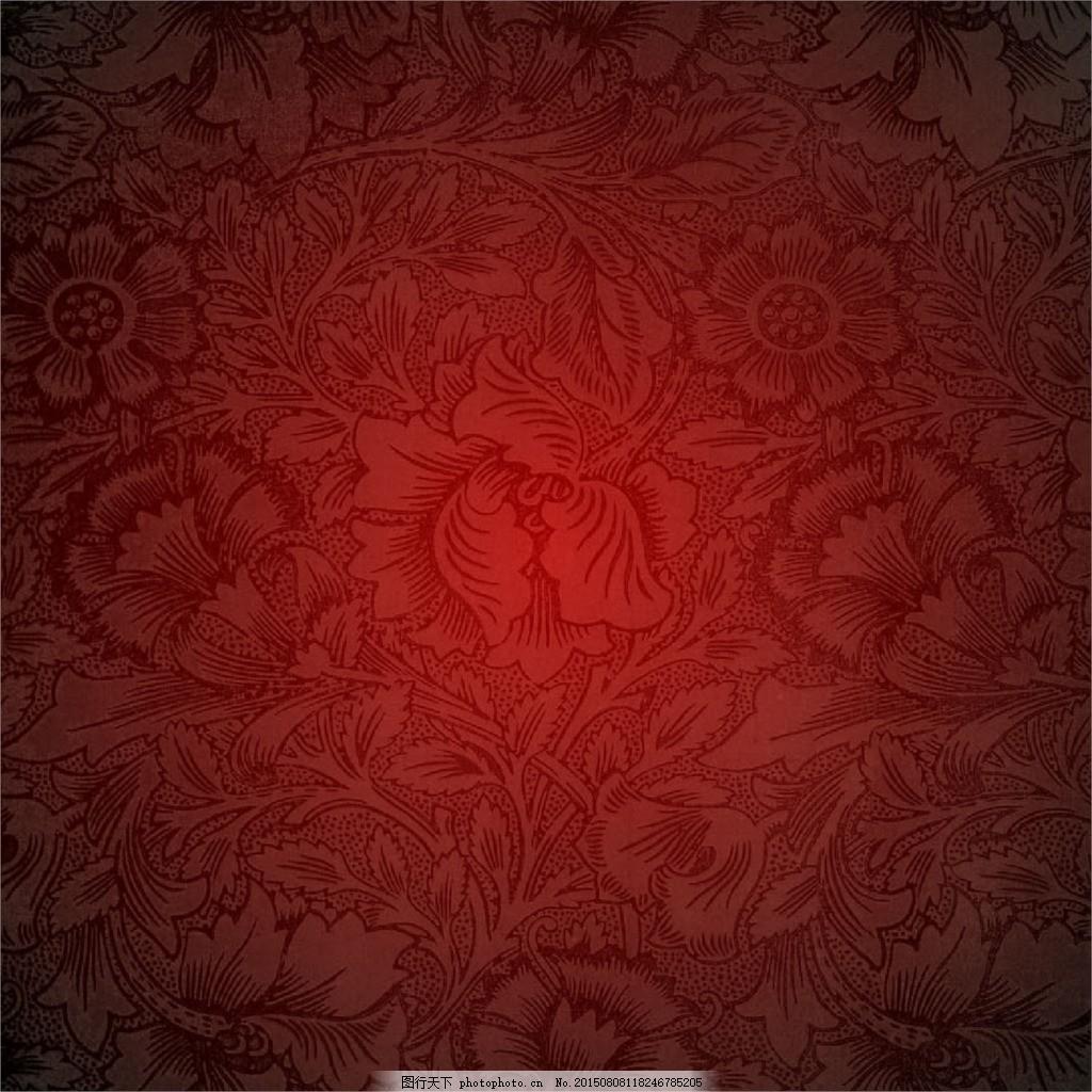 复古背景 欧式纹理 高清图片 背景素材 高清背景 jpg 红色 jpg   上传