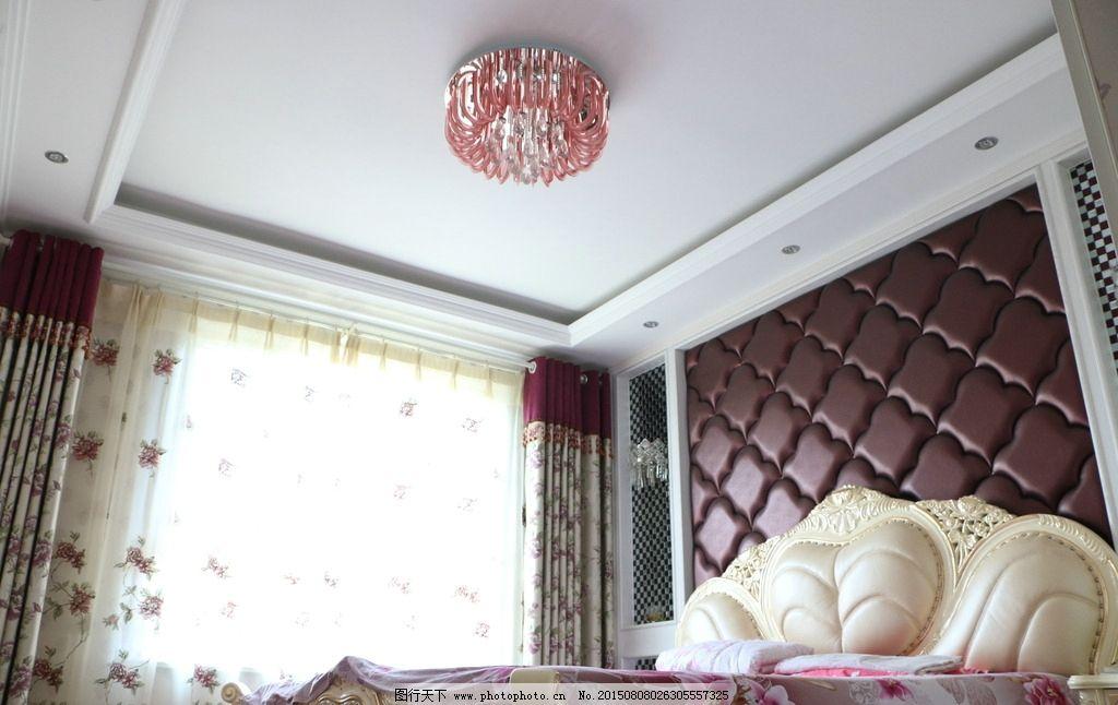 卧室软包背景 卧室软包 软包背景墙 欧式卧室效果 简欧式卧室 卧室