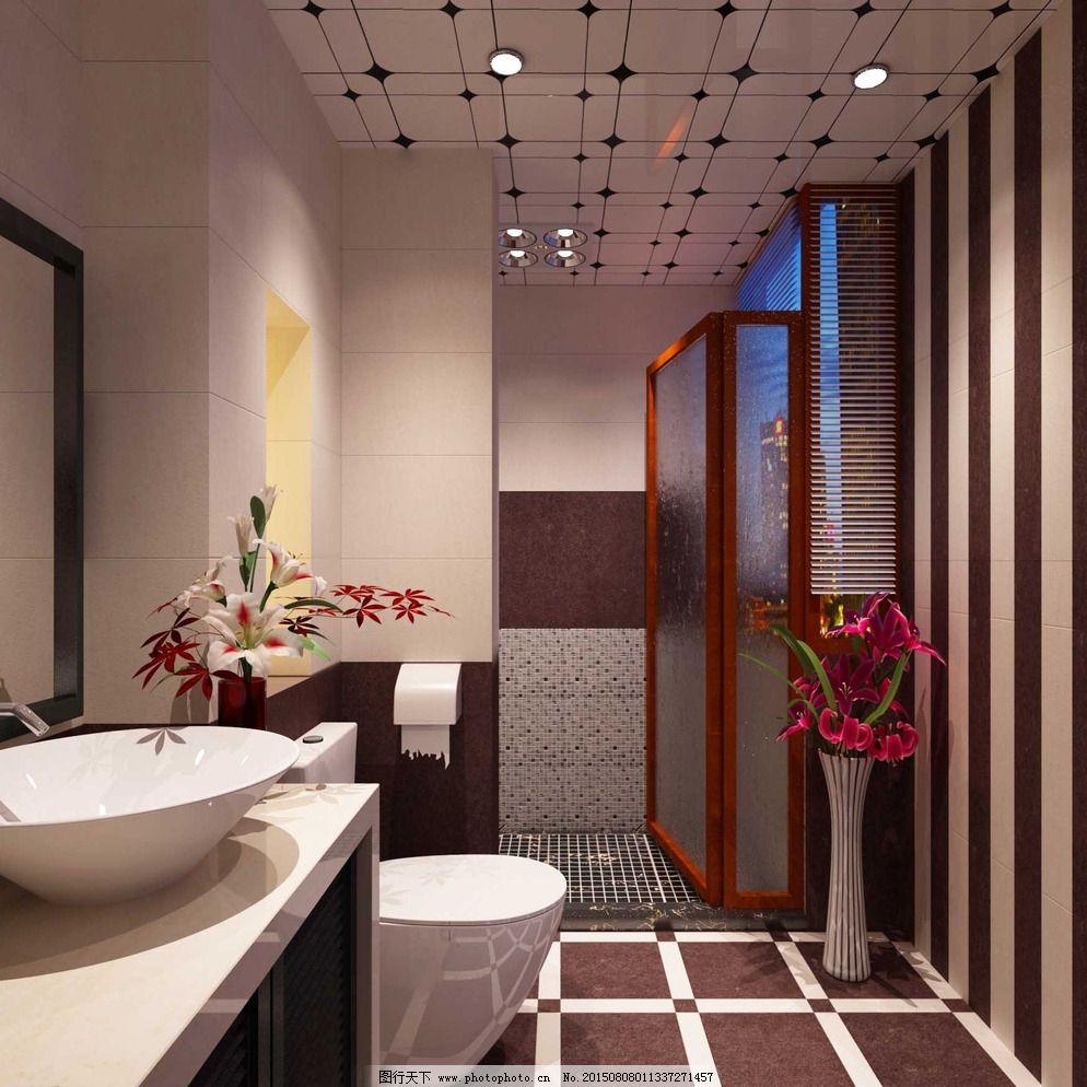 浴室吊顶扣板效果图图片