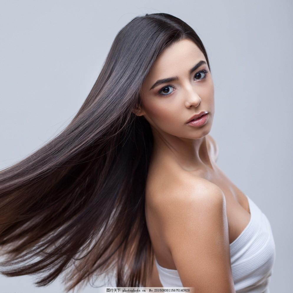 长发亚裔美女 长直发美女 模特 女模 美发 秀发 发型 飘逸 发型模特图片